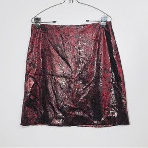 Will's River Co. Red Faux Animal Print Mini Skirt